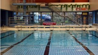 An interior view of an empty municipal swimming pool in Bornheim, Germany, 15 January 2016