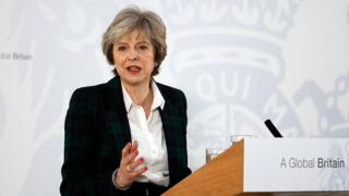 Theresa May delivers her keynote speech on Brexit at Lancaster House