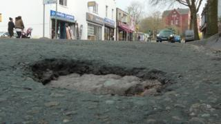 Potholes 'the speak of a canteen'