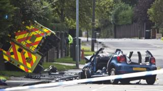 Ambulance crash in St Albans