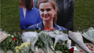 Tributes to Jo Cox in Parliament Square