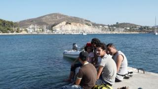 Refugees on Leros