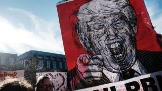 Протест против миграционной политики Дональда Трампа