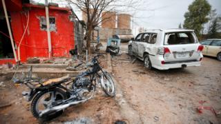 Aftermath of bomb attack on headquarters of Democratic Party of Iranian Kurdistan (PDKI) in Koy Sanjaq, Iraq (21 December 2016)