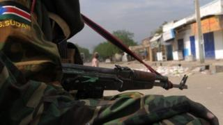 library picture: former rebels patrol streets of Malakal 12/01/2014