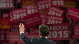 Ed Miliband at an election rally
