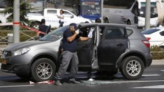 Police at the scene in Jerusalem