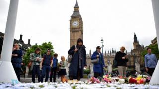 Tributes in Parliament Square