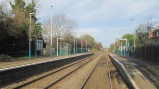 Hope Railway Station, Flintshire