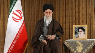 Supreme Leader Ayatollah Ali Khamenei delivers a message for the Iranian New Year,