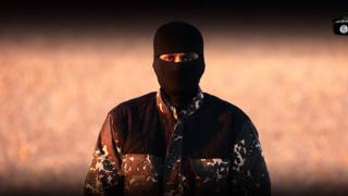 A man who appears in the video released by so-called Islamic State