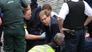 'Hero' MP Tobias Ellwood attempted to save stabbed officer