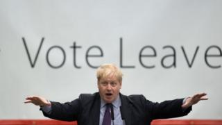 Boris Johnson on the EU referendum campaign trail