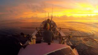 The Coxless Crew on the Pacific Ocean on Christmas Day