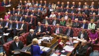 Peers in the House of Lords during a debate on the EU Withdrawal Bill