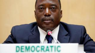 President of the Democratic Republic of Congo, Joseph Kabila, attends the signing ceremony of the Peace, Security and Cooperation Framework for DR Congo and the Great Lakes, 24 February 2013
