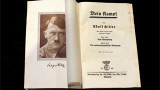 "A copy of Adolf Hitler""s book 'Mein Kampf'"