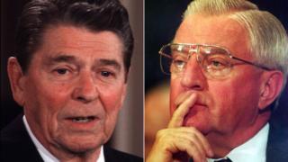 Ronald Reagan and Walter Mondale