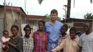 Dr Crozier at the Kenema General Hospital in August 2015