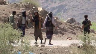 Ansar al-Sharia fighters near Taiz, Yemen