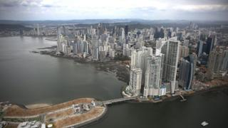 Part of the Panama City skyline is seen as revelations about the law firm Mossack Fonseca ^ Co continue to play out around the world on April 7, 2016 in Panama City, Panama