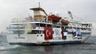 The Turkish ship Mavi Marmara pictured 2010