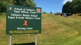 Army fitness test in Brecon