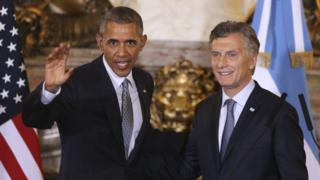 The two leaders held a press conference at the Casa Rosada