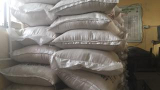 Sacks of rice