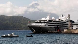Cruise ship in Ternate