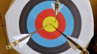 Arrows on target