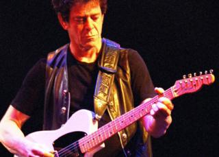 Lou Reed on stage in 1990