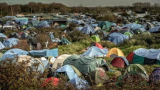Jungle migrants camp, Calais
