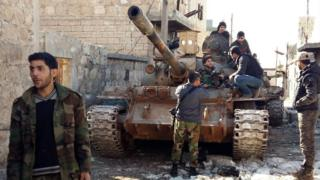 Syrian government forces in northern Aleppo province (2 February 2016)