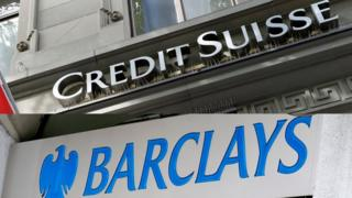 Barclays and Credit Suisse logos