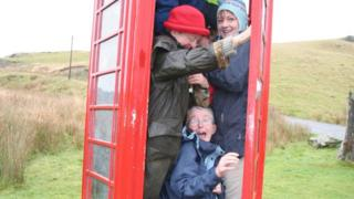 The red telephone box