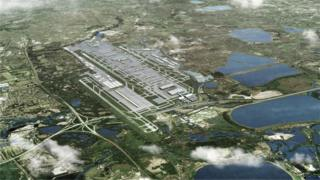 Artist impression of third runway at Heathrow