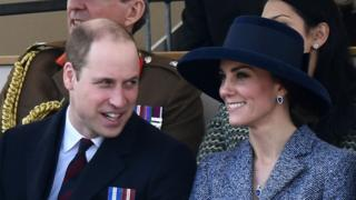 The Duke and Duchess of Cambridge at a Service of Commemoration on Horse Guards Parade on March 9, 2017