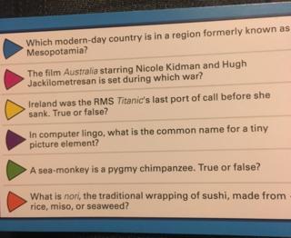Trivial Pursuit question card