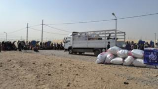 Aid being distributed in Iraq