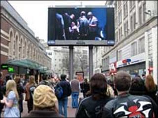 Big screen in Liverpool