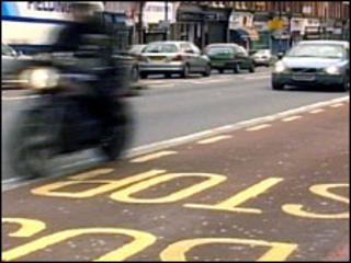 A motorcyclist in London