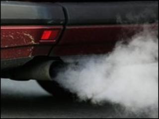 Fumes from a car exhaust