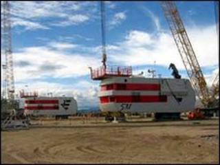 Offshore wind turbine hubs at Nigg