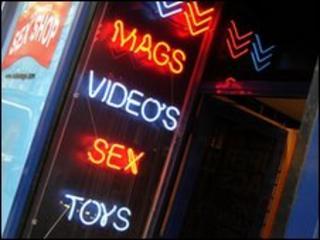 A sex shop in Soho