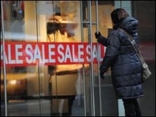 Shopper enters store