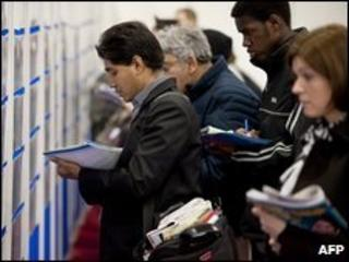 A graduate recruitment fair in London