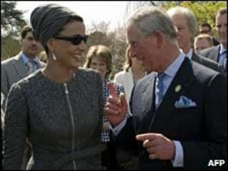 Sheikha Mozah bint Nasser Al Missned, Consort of the Emir of Qatar and Prince Charles