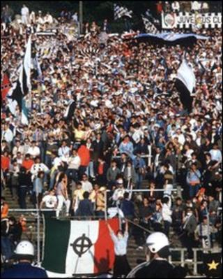 Riots during the 1985 European Cup final at Heysel Stadium in Belgium