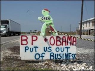 Sign in Grand Isle, Louisiana, 29 May